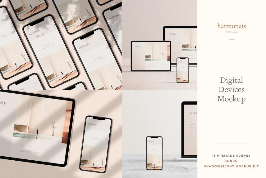 11 Digital Devices Mockup PSD