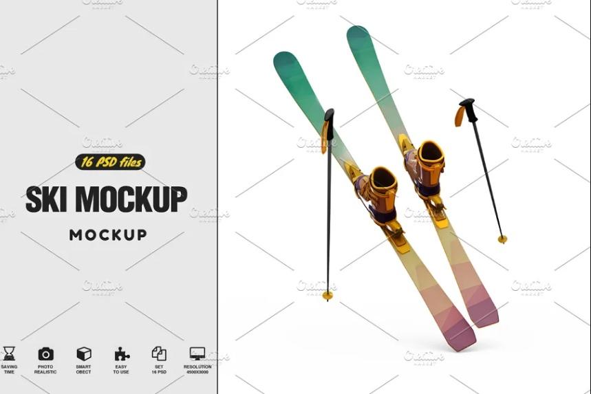 16 Ski Design Mockups