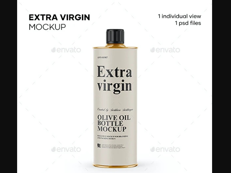 1L Olive Oil bottle Mockup