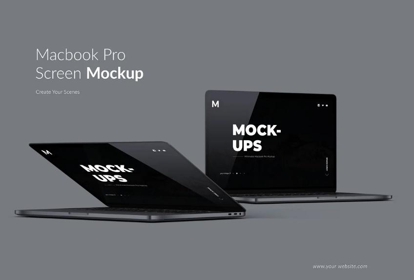 25 Macbook Pro Mockups