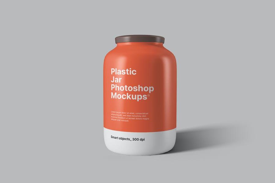 3 Plasti jar Branding Mockups