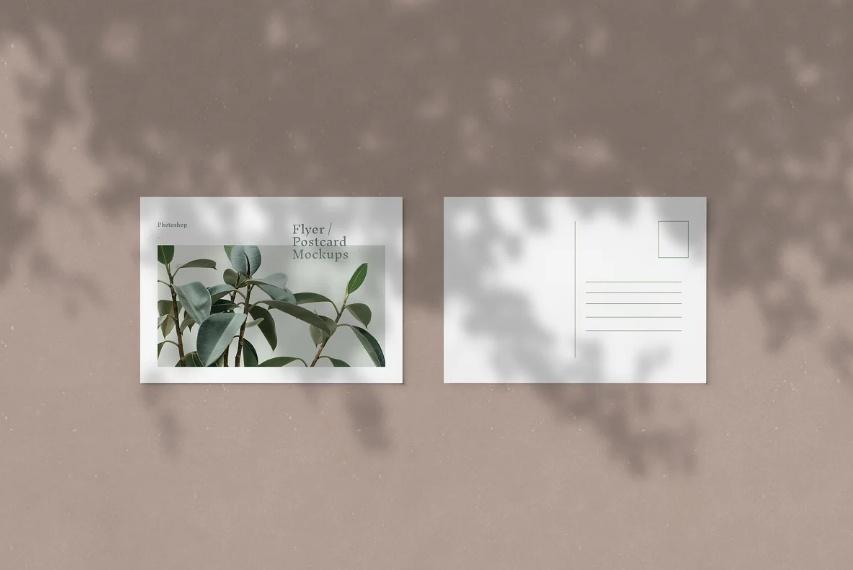 3 Postcards on Floor Mockups