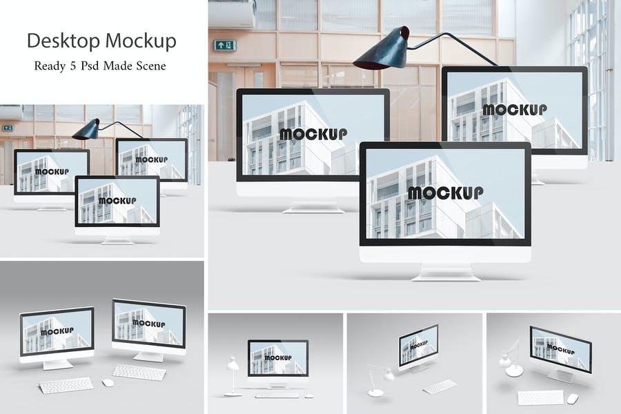 5 Realistic Desktop Mockups