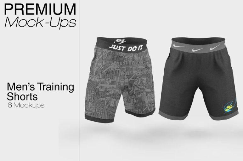 6 Training Shorts Mock Up