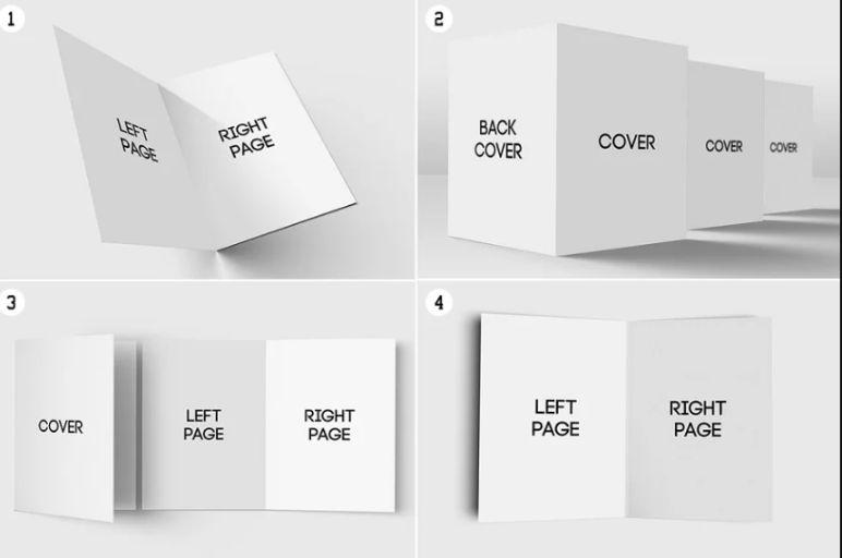 7 Greeting Cards Mockup Set