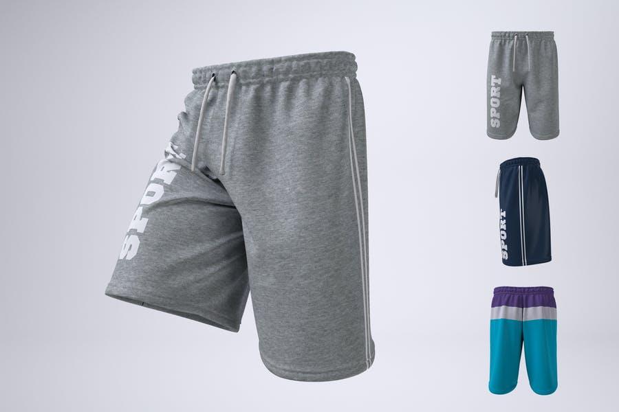Athletic Shorts Mockup PSD