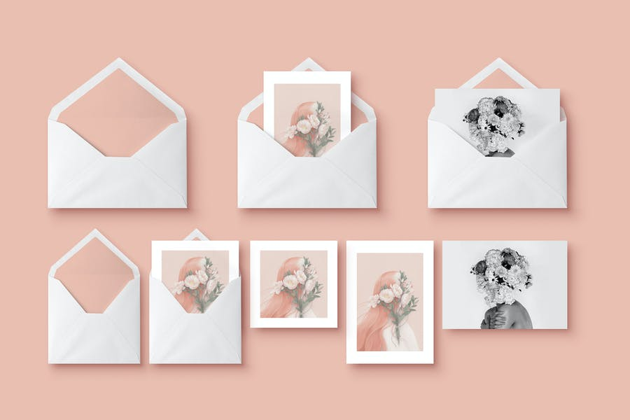 Best Greeting Cards Mockup PSD