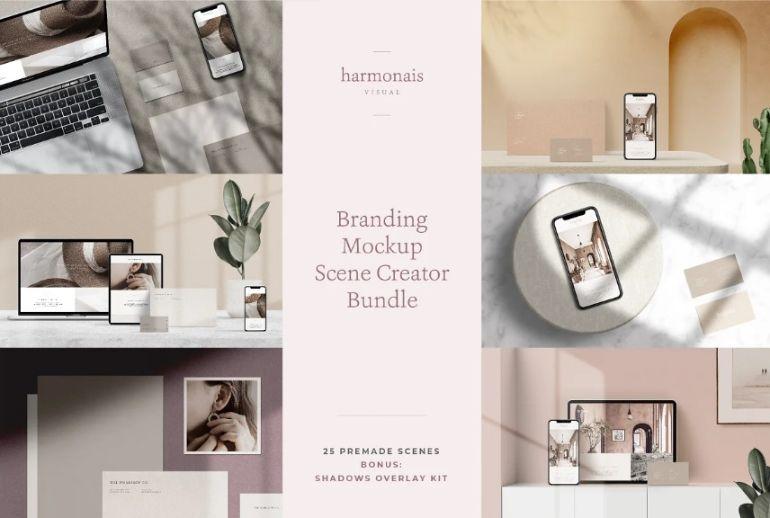 Branding Mockup Scene Bundle