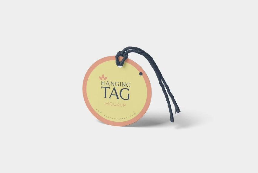 Circular Hanging Tag Mockups