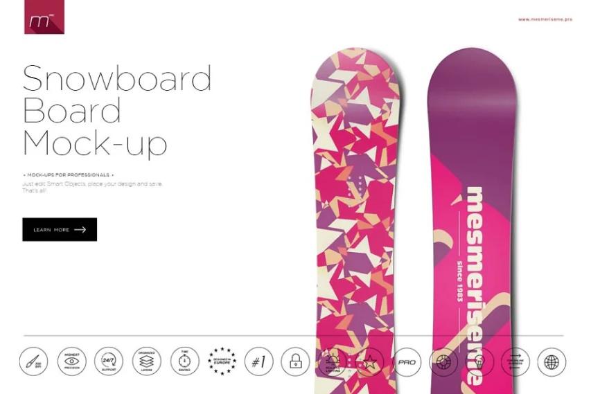 Clean Snowboard Mockups