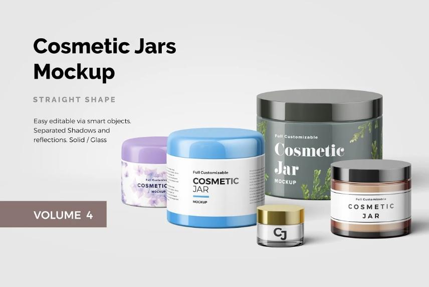Cosmetics Jar Branding Mockups