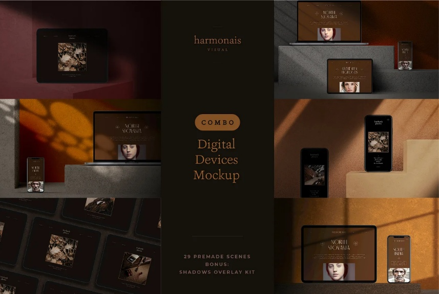 Dark Mode Devices Mockups
