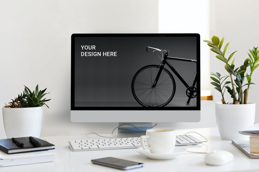Desktop Front View mockup