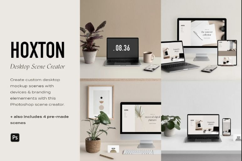 Desktop and Mockup Scene Generator