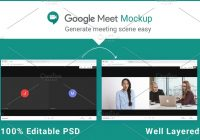 google meeting mockup
