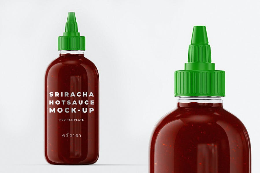 Editable Sauce Branding Mockups