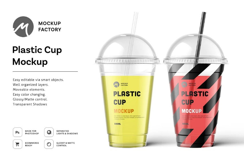 Editablew Drinks Cup Mockup PSD