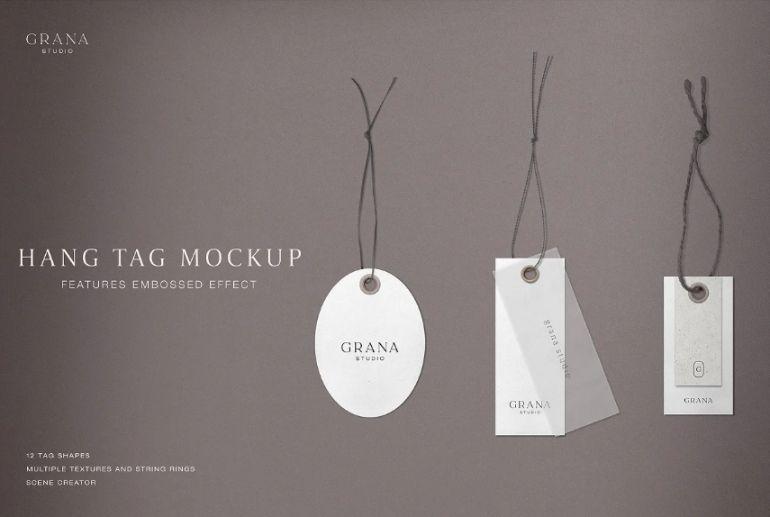 Embossed Hang Tag Mockup Creator