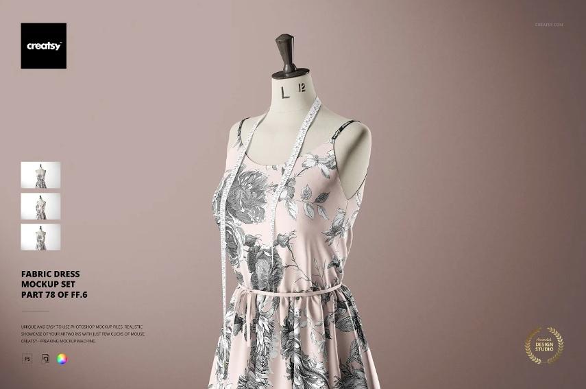 Fabric Dress Mockup PSD