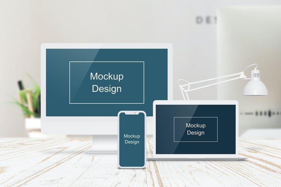 Fast Editable Website Mockup