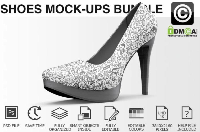 Female Shoes Mockup PSD