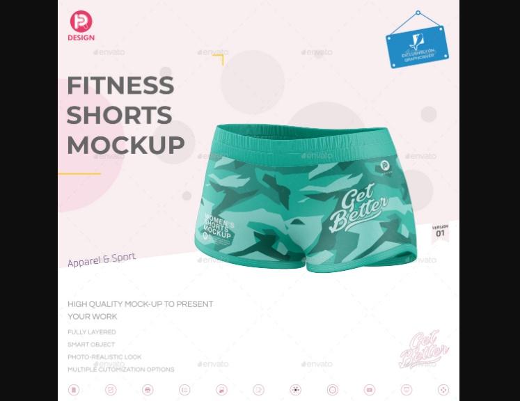 Fitness Shorts Mockup