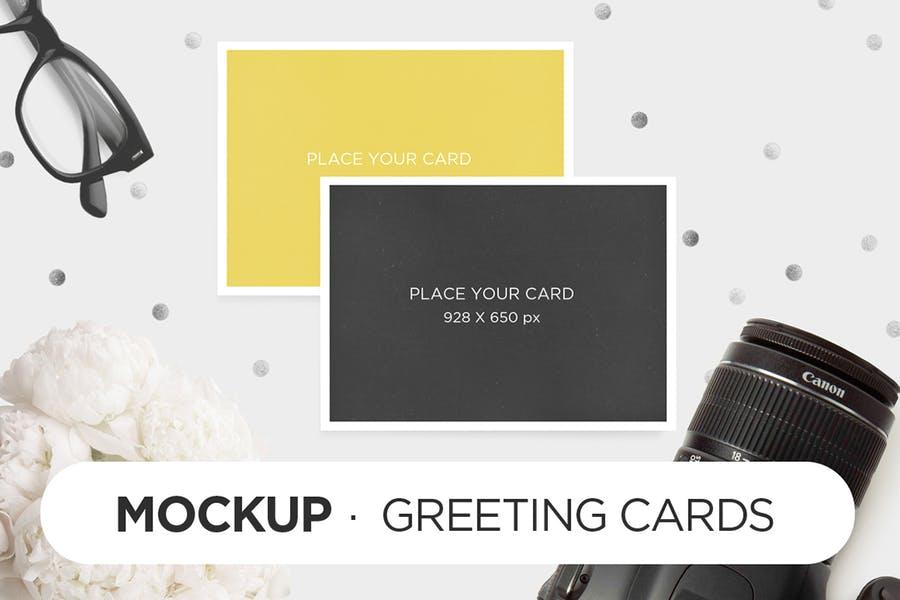Fully Editable Greetings Card Mockup