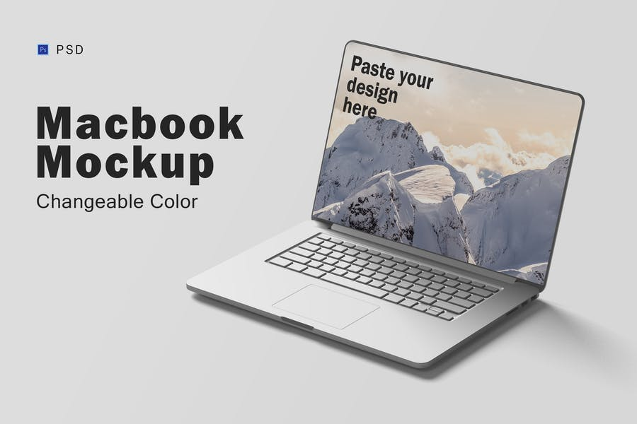 Fully Layered MacBook Mockups
