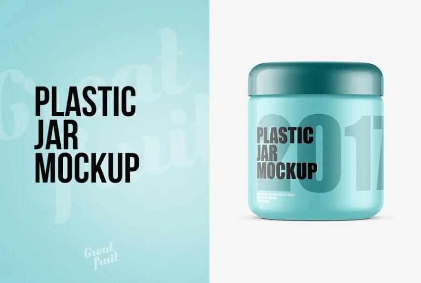 Fully Layered Plastic Jar PSD Mockup