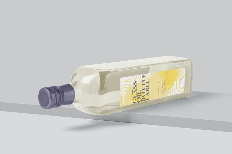 Glass Oil Bottle Mockups