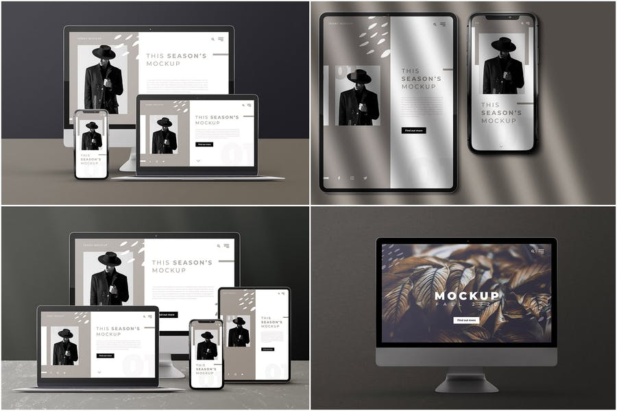 High Quality Devices PSD Mockup