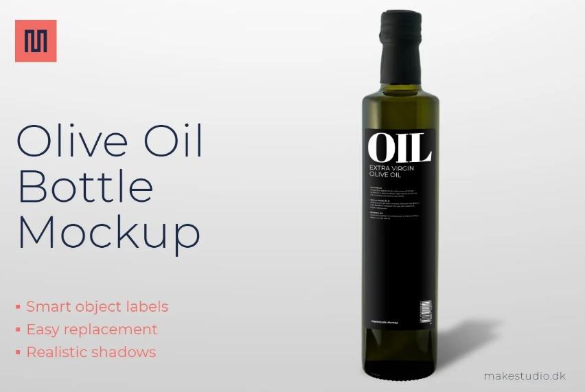 High Resolution Olive Oil Branding Mockups