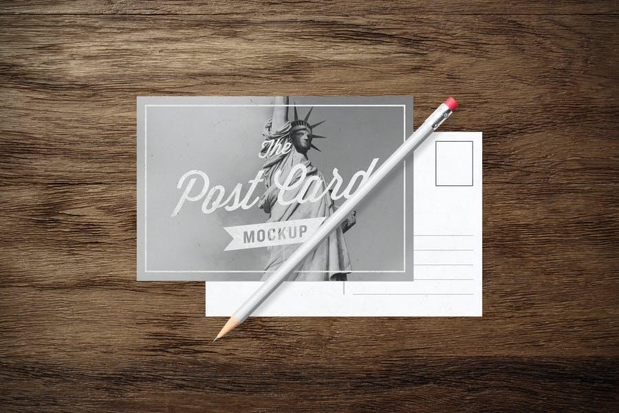 High Resolution Postcard Mockups