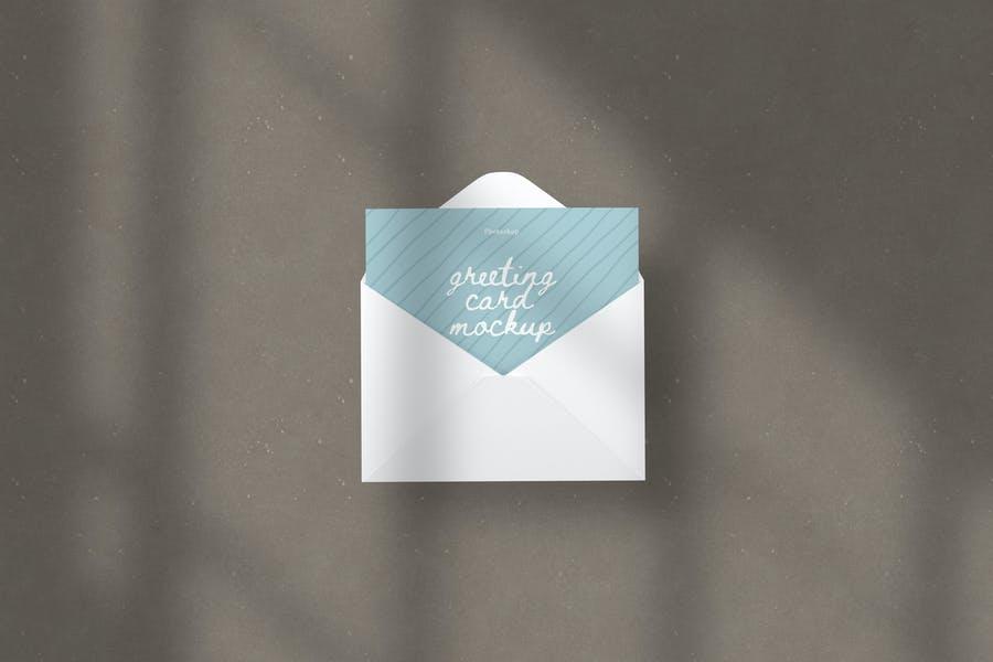 Isolated Greeting Card PSD Mockup