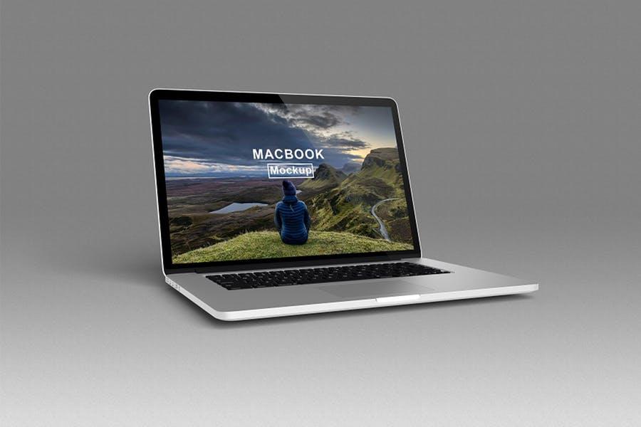 Isolated MacBook Mockup PSD