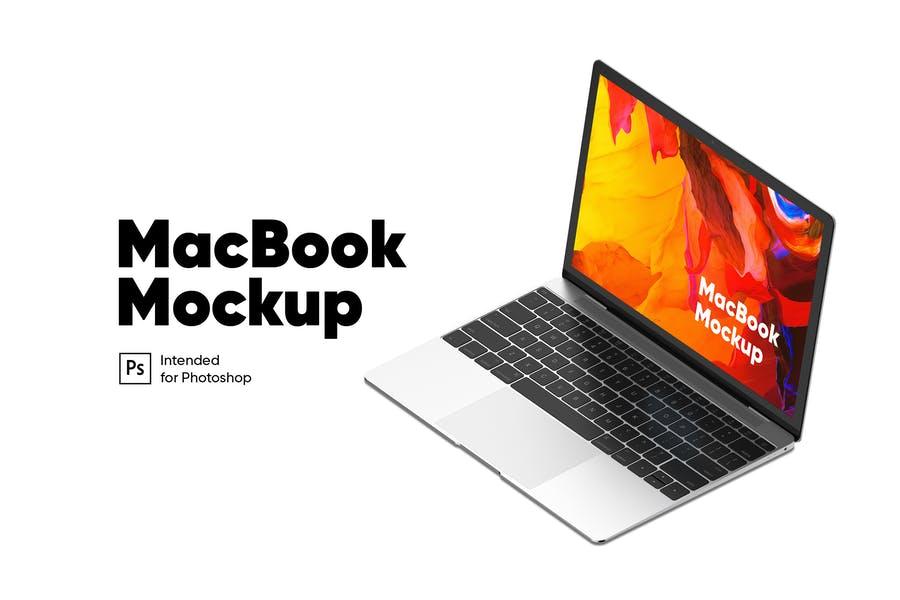 Isometric MacBook Screen Mockups
