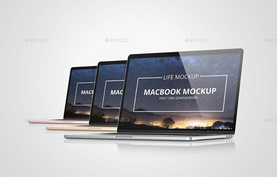 Layered MacBook Mockups
