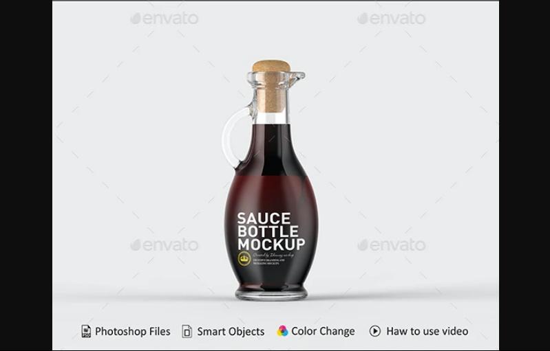 Layered Sauce Bottle Mockups