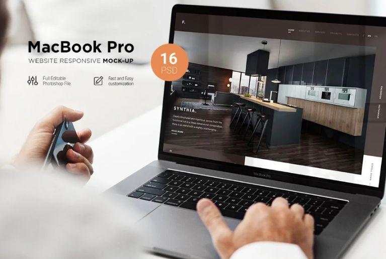 MacBook Pro Responsive Mockups