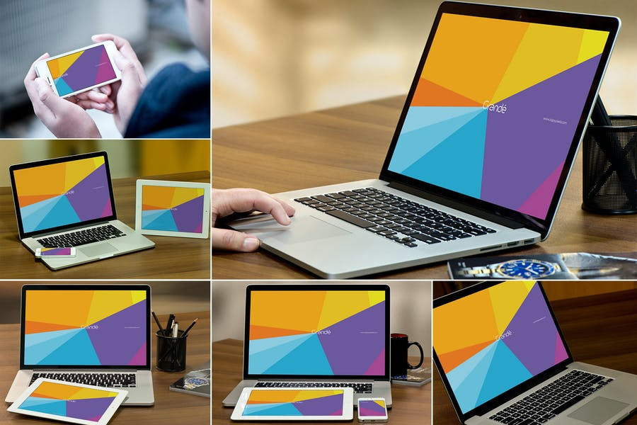 MacBook Pro Screen Mockups