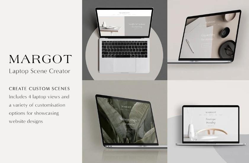 Macbook Mockup Scene Creator