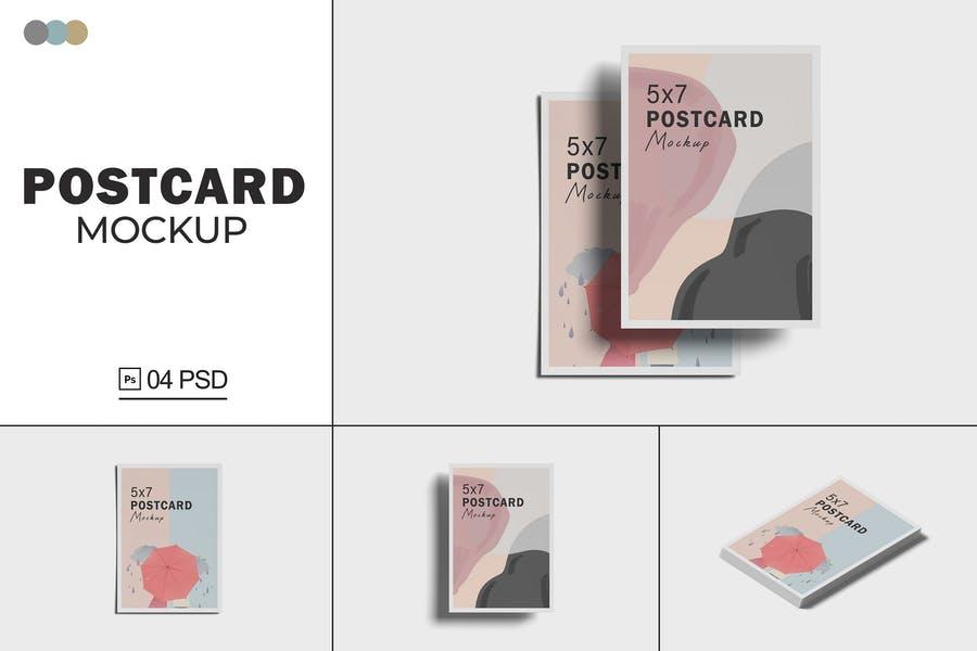 Minimal Postcard Mockup Set