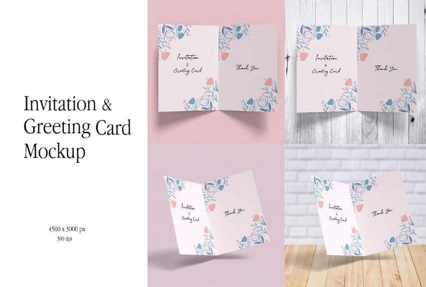 Minimalist Greeting Card Mockups