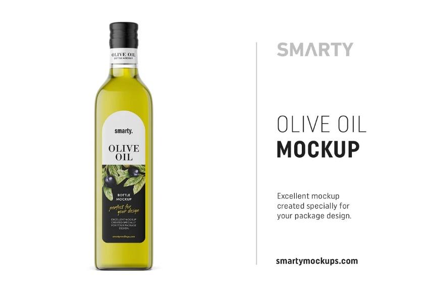 Olive Oil Label Branding Mockup