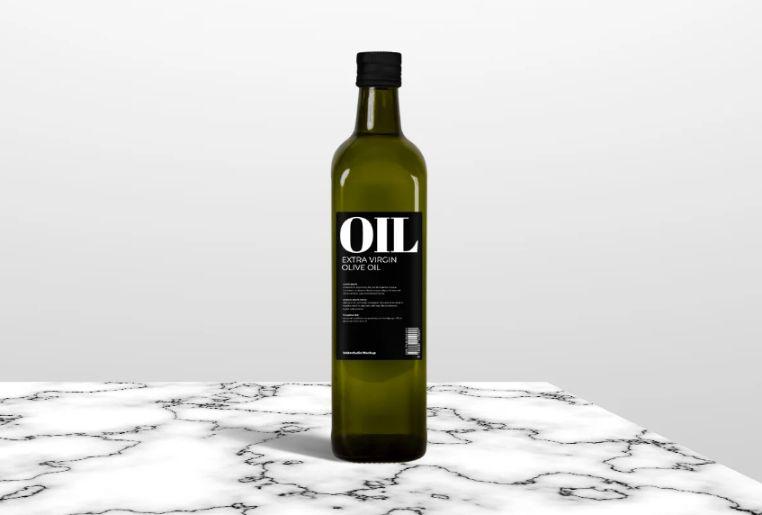 Olive Oil Label Mockup PSD