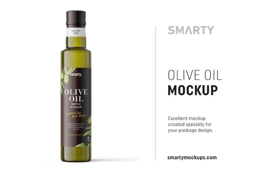Olive Oil Packaging PSD Mockups