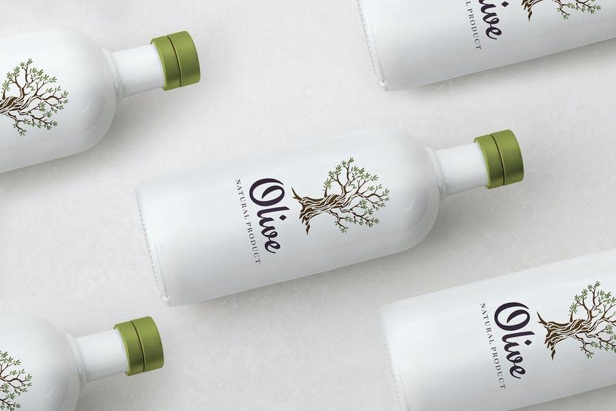 Olive Oil Perspective Mockups