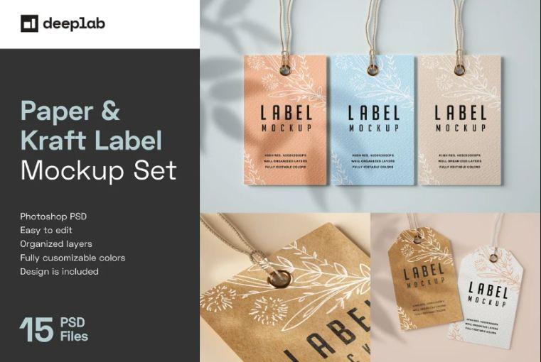 Paper Label Mockup PSD