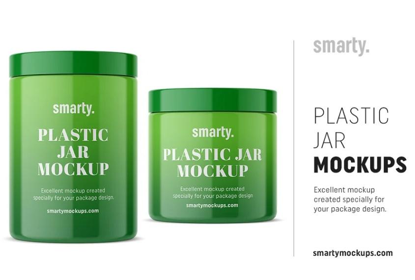 Plastic Jar Branding Mockup