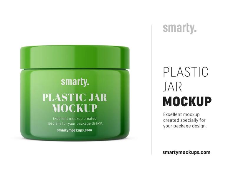 Plastic Pharma Jar Mockup